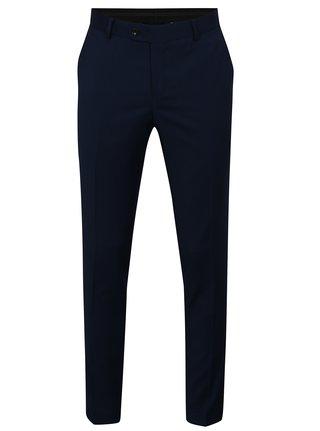 Pantaloni formali albastru inchis din lana Good Son