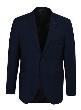 Tmavomodré oblekové vlnené sako Good Son