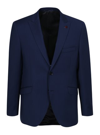 Modré oblekové vlnené sako Good Son