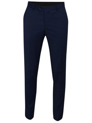 Modré oblekové vlnené nohavice Good Son