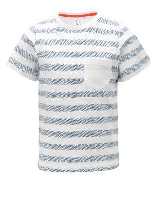 Modro-biele chlapčenské pruhované tričko s náprsným vreckom 5.10.15.