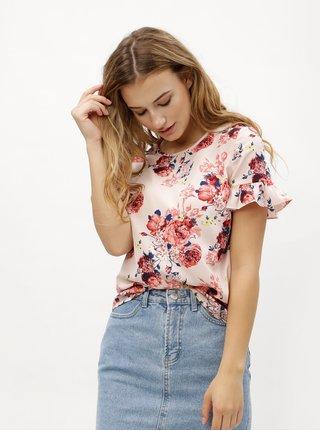 Bluza cu model floral si volane pe maneci VERO MODA Ane
