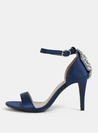 Modré sandálky s ozdobnou aplikáciou na päte Dorothy Perkins