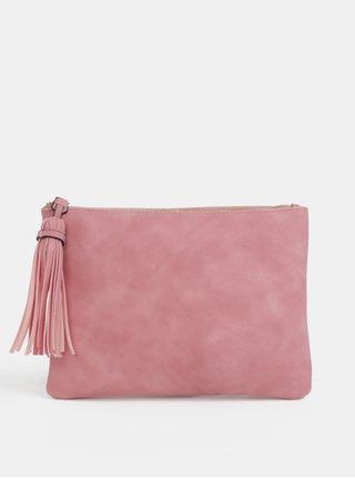Geanta plic roz cu ciucuri Dorothy Perkins