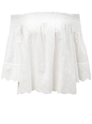 Bílá volná halenka s odhalenými rameny Dorothy Perkins