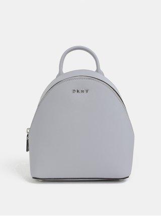 Rucsac gri deschis mic elegant din piele naturala DKNY Bryant