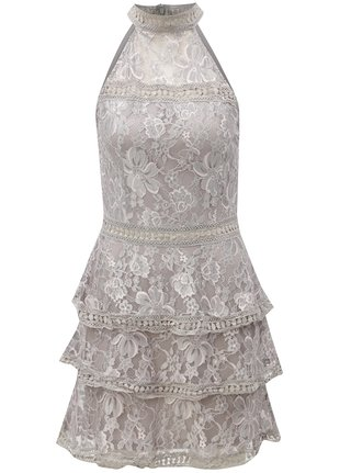 Svetlosivé kvetované šaty AX Paris e747209f929