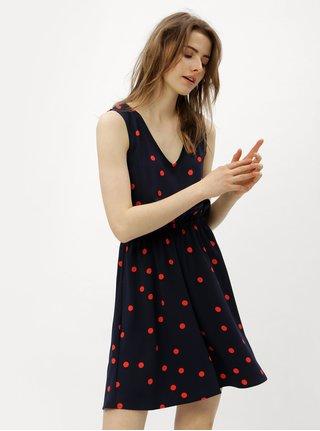 Červeno-modré šaty s překládanou zadní částí ONLY Michelle
