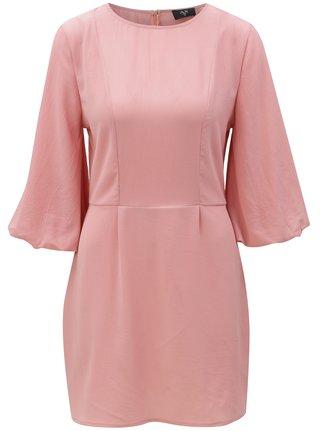 Ružové šaty s 3/4 rukávmi AX Paris