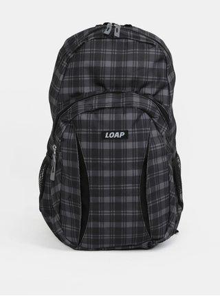 Šedo-černý kostkovaný batoh LOAP Asso 20 l