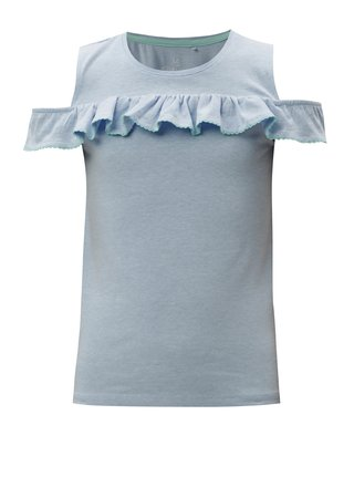 Modré dievčenské tričko s volánom 5.10.15.