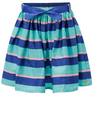 Modrá dievčenská pruhovaná sukňa s opaskom 5.10.15.