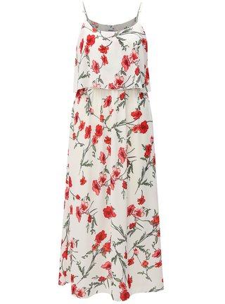 Rochie midi alba cu model floral si bretele Haily´s Fiona