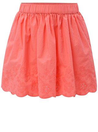 Ružová dievčenská sukňa s čipkou 5.10.15.
