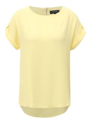 Tricou galben cu fermoar la spate Dorothy Perkins