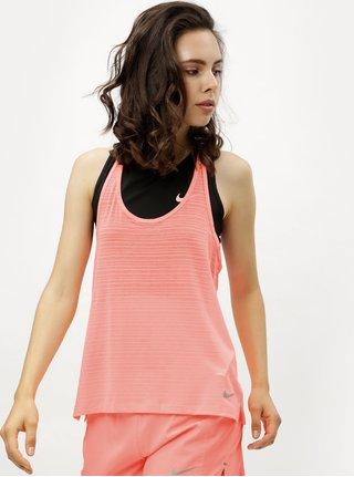 Neónovooranžové dámske oversize tielko Nike Miler Tank