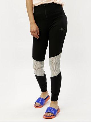 Leggings de dama negri cu fermoar si talie inalta Nike