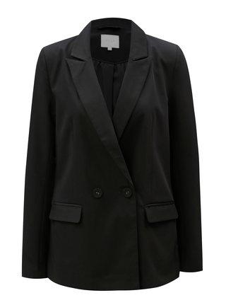 Černé sako s dlouhým rukávem VILA Conella