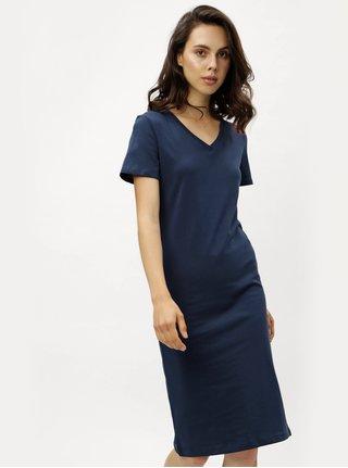 Tmavě modré pouzdrové šaty s krátkým rukávem ZOOT 2e84622a02