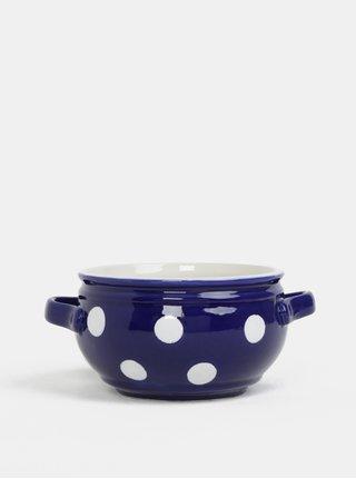 Modrá keramická miska s bodkami Dakls