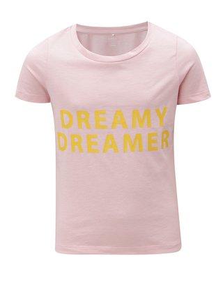 Ružové dievčenské tričko s potlačou LIMITED by name it Veenkada
