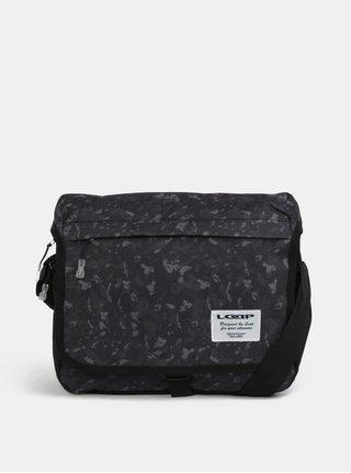 Zeleno-černá pánská vzorovaná taška přes rameno LOAP Carala