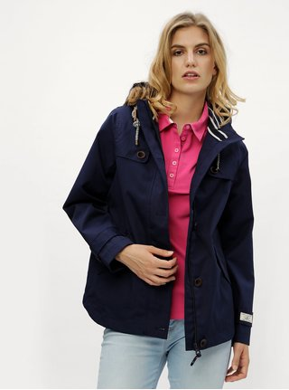 Tmavě modrá dámská voděodolná bunda Tom Joule