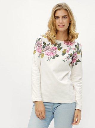 Tricou crem cu model floral Tom Joule Harbour