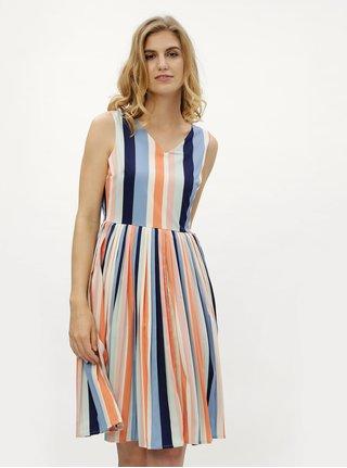 Rochie crem-albastru in dungi Fever London Stripe