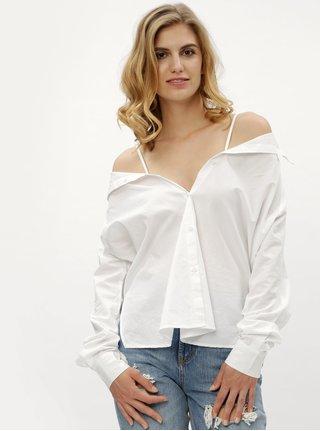 Bílá variabilní košile Noisy May Sade