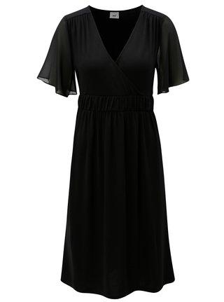 Čierne tehotenské šaty/šaty na dojčenie s krátkym rukávom Mama.licious Billie