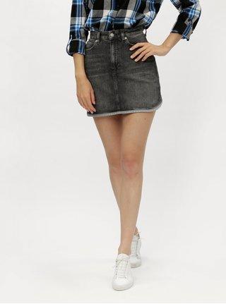 Šedá džínová minisukně Calvin Klein Jeans