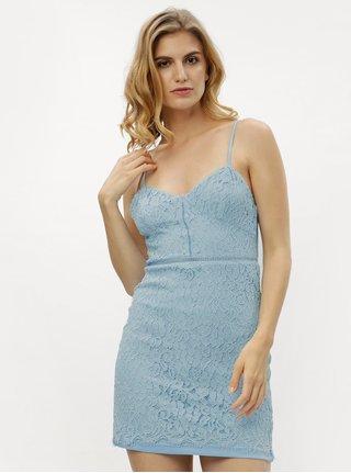 Rochie mini albastra din dantela MISSGUIDED
