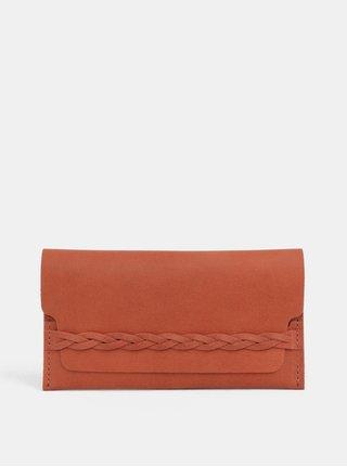 Tehlová dámska kožená peňaženka WOOX Ellen