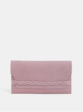 Ružová kožená peňaženka WOOX Moneta Efferta Rosea