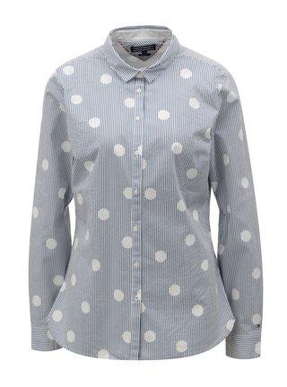 0837471562d1 Modro–biela dámska pruhovaná košeľa Tommy Hilfiger