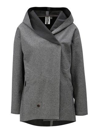 Sivá dámska melírovaná tenká vodoodolná bunda s kapucňou WOOX Coacta Simplex