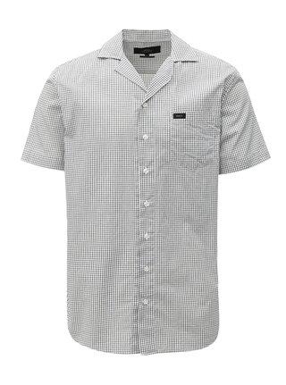 Černo-bílá kostkovaná regular fit košile Makia