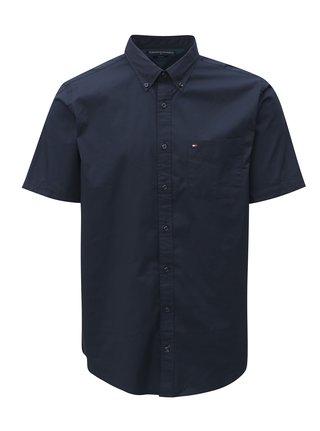 Tmavě modrá pánská košile s krátkým rukávem Tommy Hilfiger d37eb985c8
