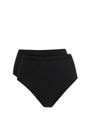 Súprava dvoch nohavičiek s vysokým sedom v čiernej farbe Bellinda
