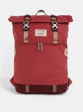 Červený batoh s koženými detaily Doughnut Christopher 18 l