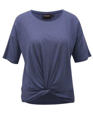 Modré dámske tričko s uzlom Broadway Dominique