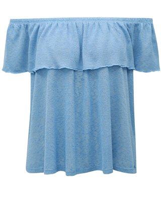 Modrá blúzka s odhalenými ramenami Broadway Fleta
