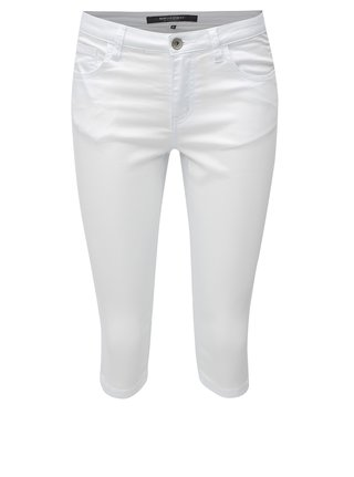 Pantaloni de dama scurti albi skinny Broadway Kenzie