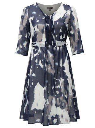 Tmavě modré vzorované šaty Ulla Popken