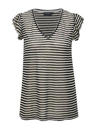 Bielo-čierne pruhované dámske tričko Broadway Felicie