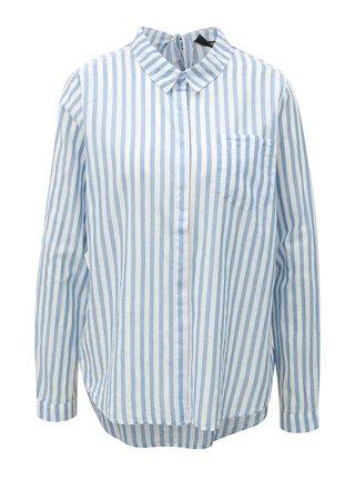 Bílo-modrá dámská košile s mašlí Broadway Dayna