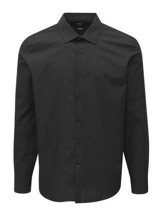 Camasa neagra slim fit Burton Menswear London