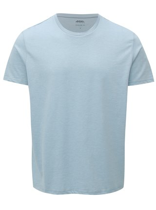 Světle modré regular fit basic tričko Burton Menswear London