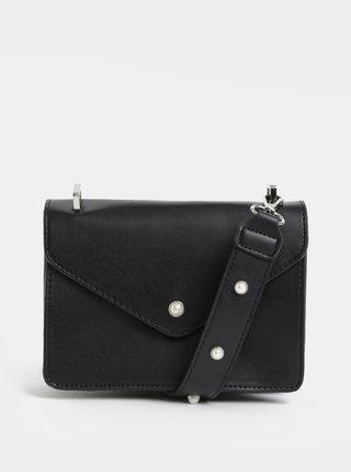 Čierna koženková kabelka Pieces Dolla